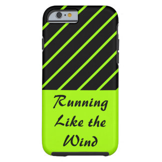 Love Running Lime Black Sporty Gym CricketDiane Tough iPhone 6 Case