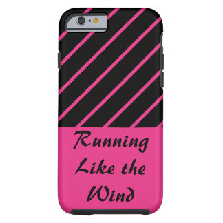 Love Running Pink Black Sports CricketDiane Trendy Tough iPhone 6 Case