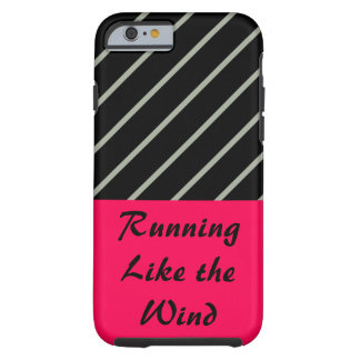 Love Running Rose Black Sport Workout CricketDiane Tough iPhone 6 Case