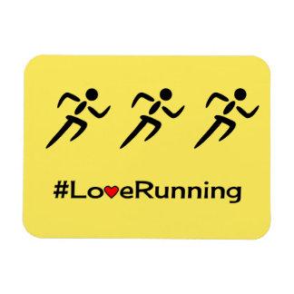 Love running slogan sports rectangular photo magnet