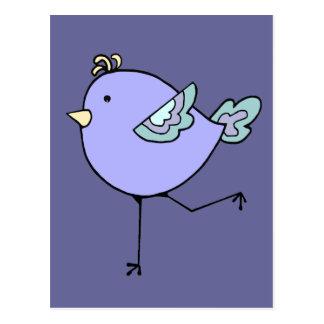 Love Running with Cute Cartoon Chick, Bird Postcard