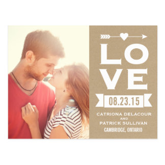 LOVE Rustic Shabby Chic   Save the Date Postcard