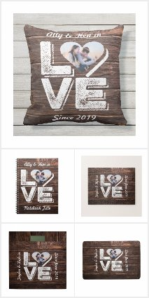 Love Rustic Woodland Frame
