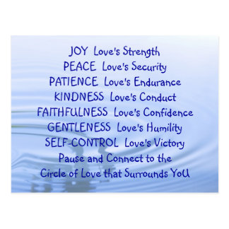 Love s Qualities Post Card