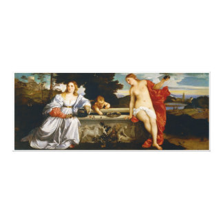 Love Sacred and Profane Love by Titian Canvas Print