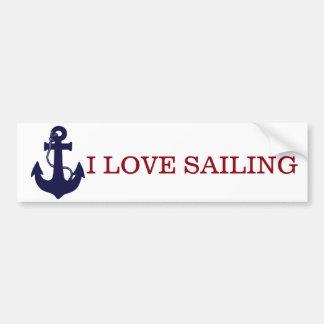 Love sailing/Anchor bumper sticker Car Bumper Sticker