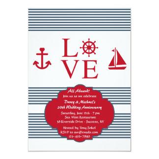 Love Sailing Anniversary Party Invitation