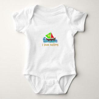 Love Sailing, Sailboat Art Baby Tees