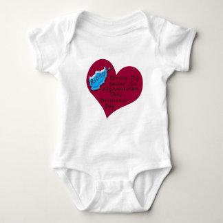 LOVE SAILOR AFGHAN VAL DAY BABY BODYSUIT