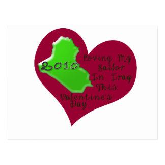 LOVE SAILOR IRAQ VAL DAY POSTCARD
