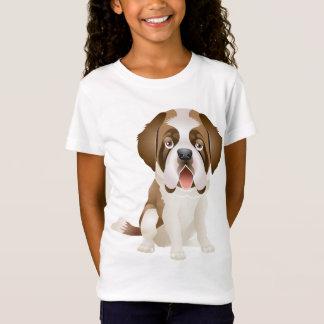 Love Saint Bernard Puppy Dog Tee Shirt