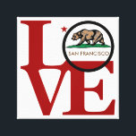 "LOVE San Francisco Canvas Print<br><div class=""desc"">LOVE San Francisco with red</div>"
