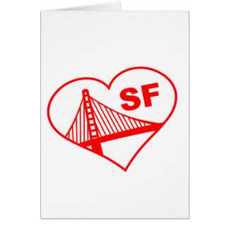 Love San Francisco Heart Card
