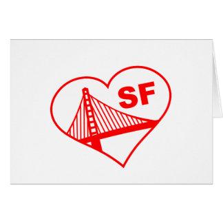 Love San Francisco Heart Greeting Cards