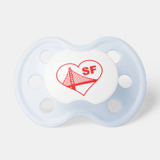 Love San Francisco Heart Baby Pacifiers