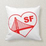 Love San Francisco Heart Pillow