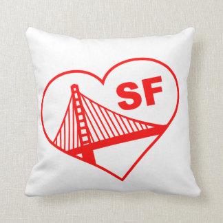 Love San Francisco Heart Throw Pillow