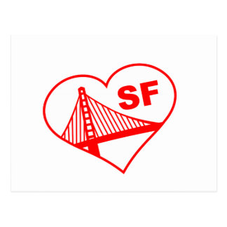 Love San Francisco Heart Postcard