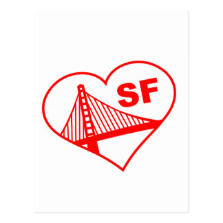 Love San Francisco Heart Postcards