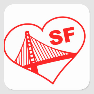 Love San Francisco Heart Stickers
