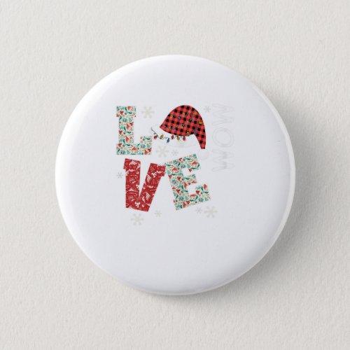 Love Santa Hat Christmas Pajama Family Costume Mom Button
