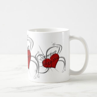 Love Saprono Singers Heart Coffee Mugs