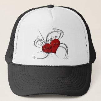 Love Saprono Singers Heart Trucker Hat