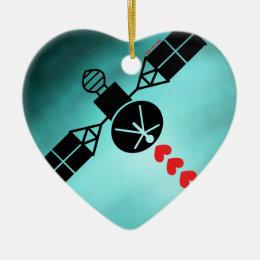Love Satellite Ceramic Ornament