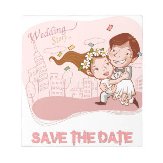 love - save the date memo note pad
