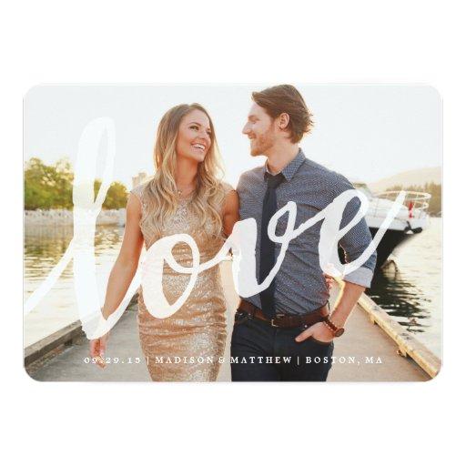 Love   Save the Date Photo Card Invitation
