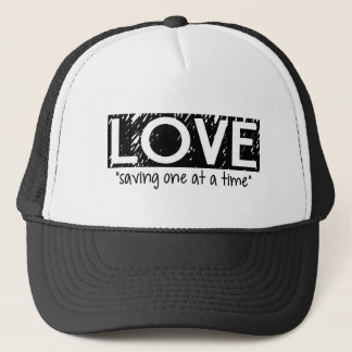 """Love """"saving one at a time"""" Hat (black)"""