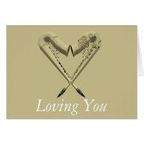 Love Sax Greetings Card at Zazzle
