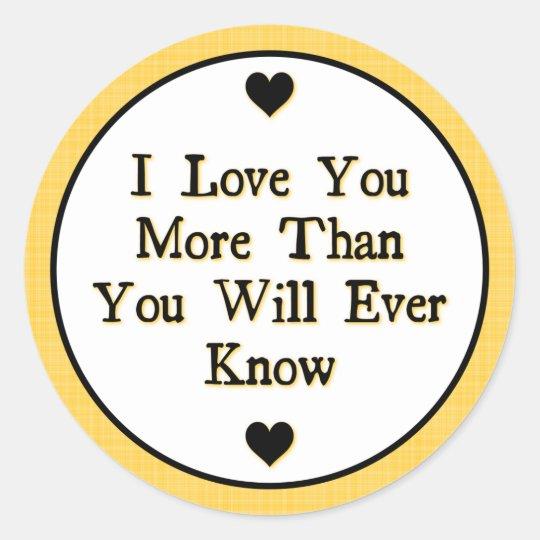 Love Saying Classic Round Sticker