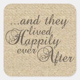 Love saying quote burlap design stickers