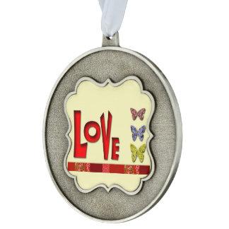 Love Scalloped Ornament