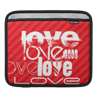 Love; Scarlet Red Stripes iPad Sleeve