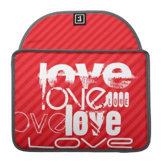Love; Scarlet Red Stripes MacBook Pro Sleeve