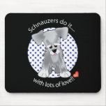 Love Schnauzer Mouse Pad