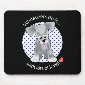 Love Schnauzer Mouse Pads