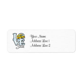 Love School Return Address Label