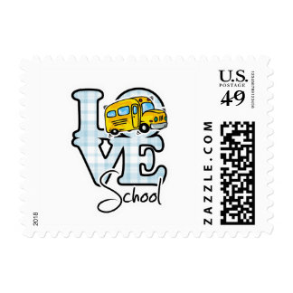 Love School Postage Stamps
