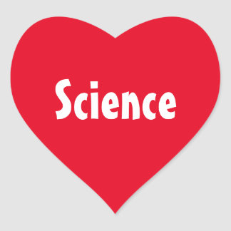 """Love """"Science"""" Stickers"""