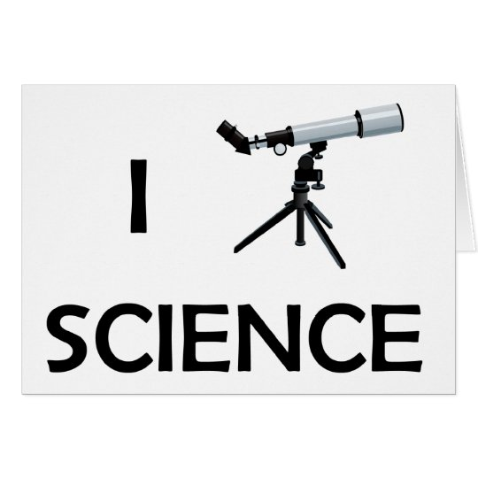Love Science Telescope Card