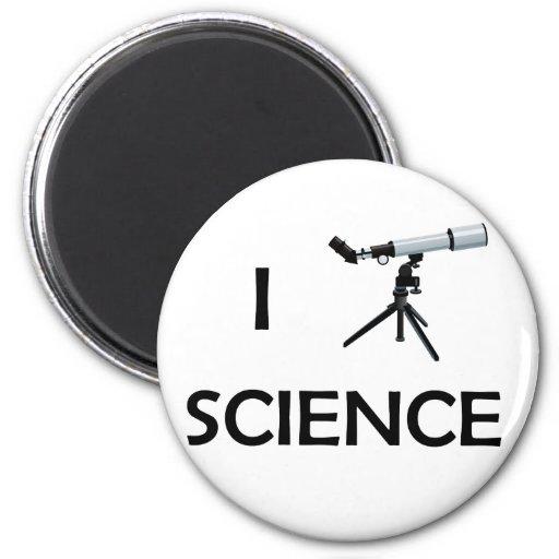 Love Science Telescope Refrigerator Magnet