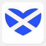 Love Scotland Square Sticker