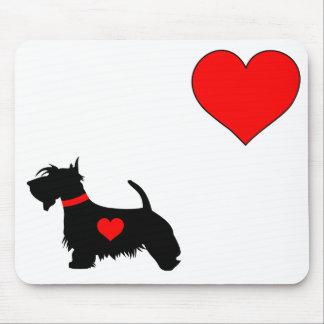 Love Scottie dog mouse mat