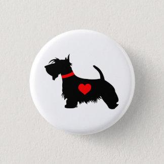 Love Scottie dog pin button badge