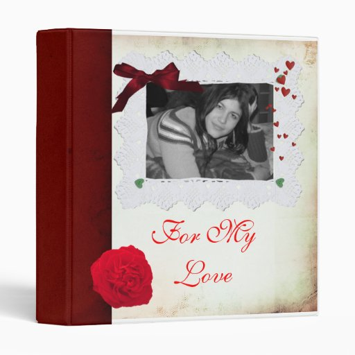 Love Scrapbook/ Photoalbum 3 Ring Binder