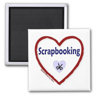 Love Scrapbooking 2 Inch Square Magnet