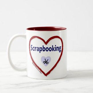 Love Scrapbooking Two-Tone Coffee Mug